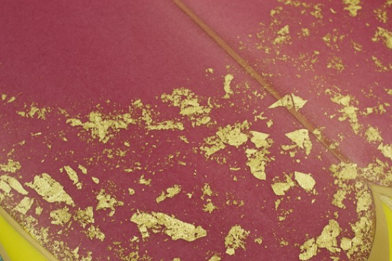 Magenta tinted with Gold leaves