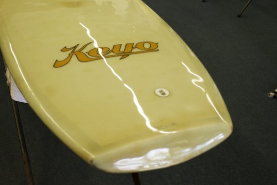 Retoration work done on Keyo surfboard