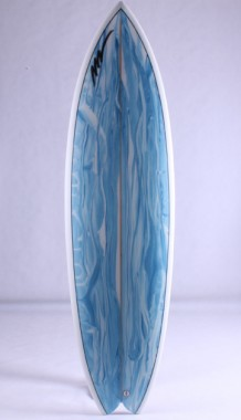 King fish Blue and white marble done by pigment