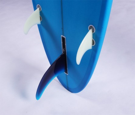 Lip Hit blue tited box centre fin and FCS side fin set up