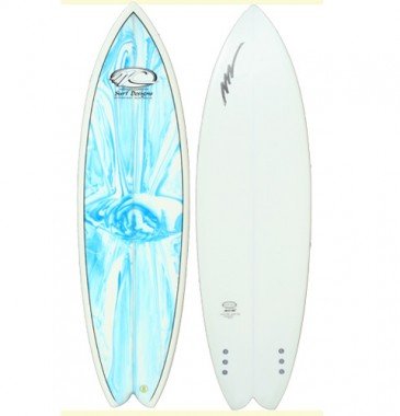 Dart Fish Blue Marble deck white bottom