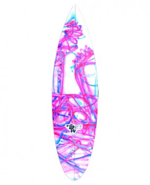 Danny Wills Hot Rod 5.5FT Pink/blue line spray