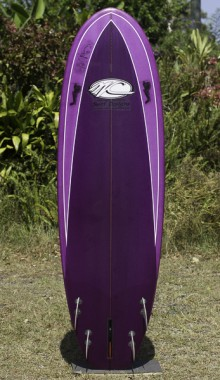 Stubbie purple 6FT with 5 fin set up